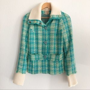 FREE PEOPLE TWEED JACKET SIZE SMALL